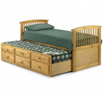 Hornblower Pine Bedframe + Guest Bed + Storage